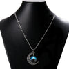 Image of Galaxy & Crescent Cosmic Blue Moon Necklace