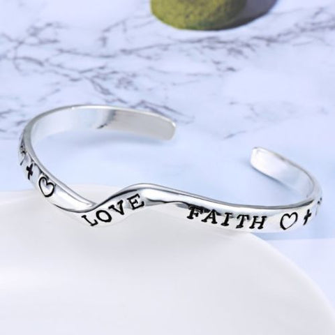 Love Faith Bracelet - Christian Jewelry for Women