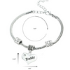 Image of Daddy Pendant Heart Charm Bracelet