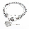 Image of Believe Inspirational Pendant Silver Heart Charm Bracelet