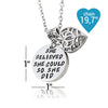 Image of She believed she could so she did - Inspirational Pendant Necklace