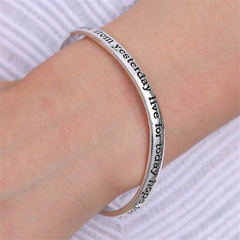Live the life you love learn from yesterday live for today hope for tomorrow - Inspirational Bracelet