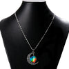Image of Galaxy & Crescent Cosmic Colorful Glass Necklace