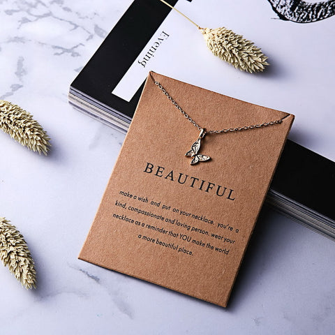 Butterfly Pendant Necklace Jewelry