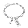 Image of ME vs ME Inspirational Pendant Bracelet - Best Motivational Gift - Weight Plate Barbell Dumbbell Pendant Bracelet