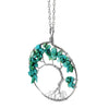 Image of Luvalti Tree of life - Gemstone Chakra Jewelry Blue Silver Chain Necklace