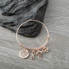 Image of She Believed she Could so she did Inspirational Jewelry Adjustable Bangle Bracelet Gift