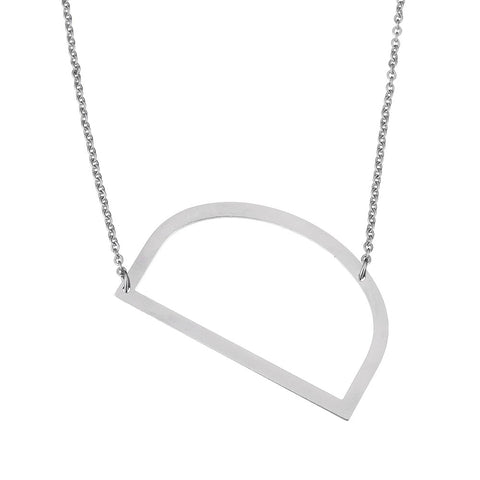 Stainless Steel Initial Necklace Letter D - Large Alphabet Pendant Necklace ♥Christmas Gift for Her♥