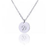 Image of Initial Letter D Stainless Steel Pendant Necklace - Round Alphabet Pendant