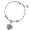 Image of Daughter Pendant Colorful Charm Bracelet