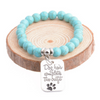 "Image of ""Dog Hair Completes the Outfit"" Charm Bracelet Paw Print Jewelry"