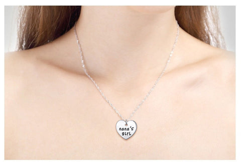 Nana's Girl - Set of 2 Pendant Necklaces