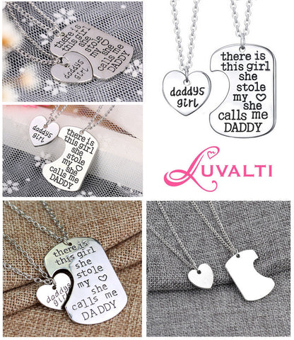 Daddy's Girl - Father Daughter Pendant Necklace Set
