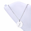 Image of Initial Letter J Stainless Steel Pendant Necklace - Round Alphabet Pendant