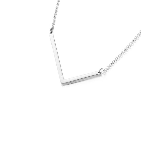 Stainless Steel Initial Necklace Letter L - Large Alphabet Pendant Necklace ♥Valentine's Day Gift for Her♥