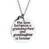 Image of The love between a grandmother and granddaughter is forever - Grandma Granddaughter Necklace