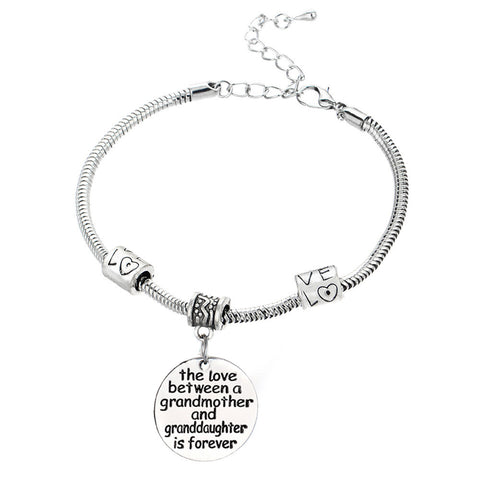 Love Between a Grandmother and Granddaughter is Forever - Grandmother and Granddaughter Bracelet