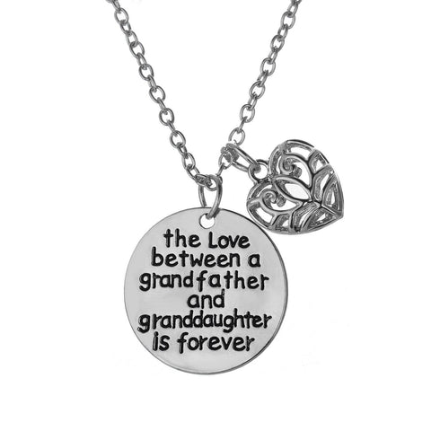 Love Between a Grandfather and Granddaughter is Forever Necklace