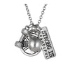 Image of Strong is Beautiful Pendant Necklace Set - Sports and Fitness Inspirational Jewelry