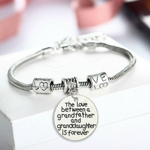 Love Between Grandfather and Granddaughter is Forever - Grandfather and Granddaughter Bracelet