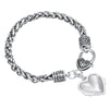 Image of Mom Pink Charm Heart Bracelet