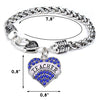 Image of Teacher Heart Charm Pendant Bracelet