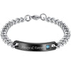 Image of Always & Forever Stainless Steel Bracelet for Men - Gift for Lovers