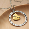 Image of Daughter Dream Hope Love Trust Pendant Necklace