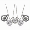 "Image of Mother & Daughter ""No Matter Where"" Necklace Set"