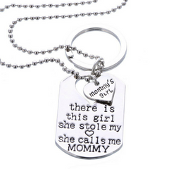 Mommy's Girl Necklace & Keychain