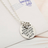 Image of Dogs aren't my whole life... They make my life whole! Pendant Necklace Paw Print Jewelry