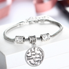 Image of Kind Free Peace True Pendant Charm Bracelet