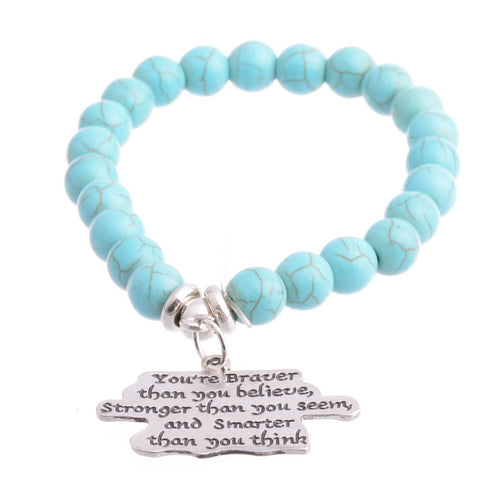 You are braver than you believe Inspirational Bracelet
