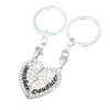 Image of Mother & Daughter Heart Set of 2 Keychains