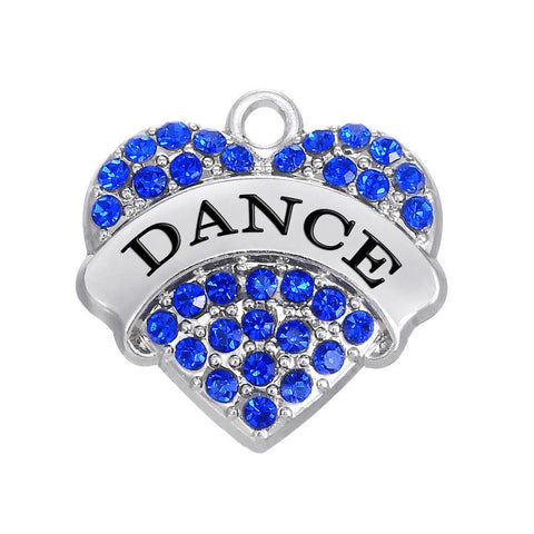 Dance Charm Bracelets - Dance Crystal Heart Bracelet - Best Jewelry Gift for Women