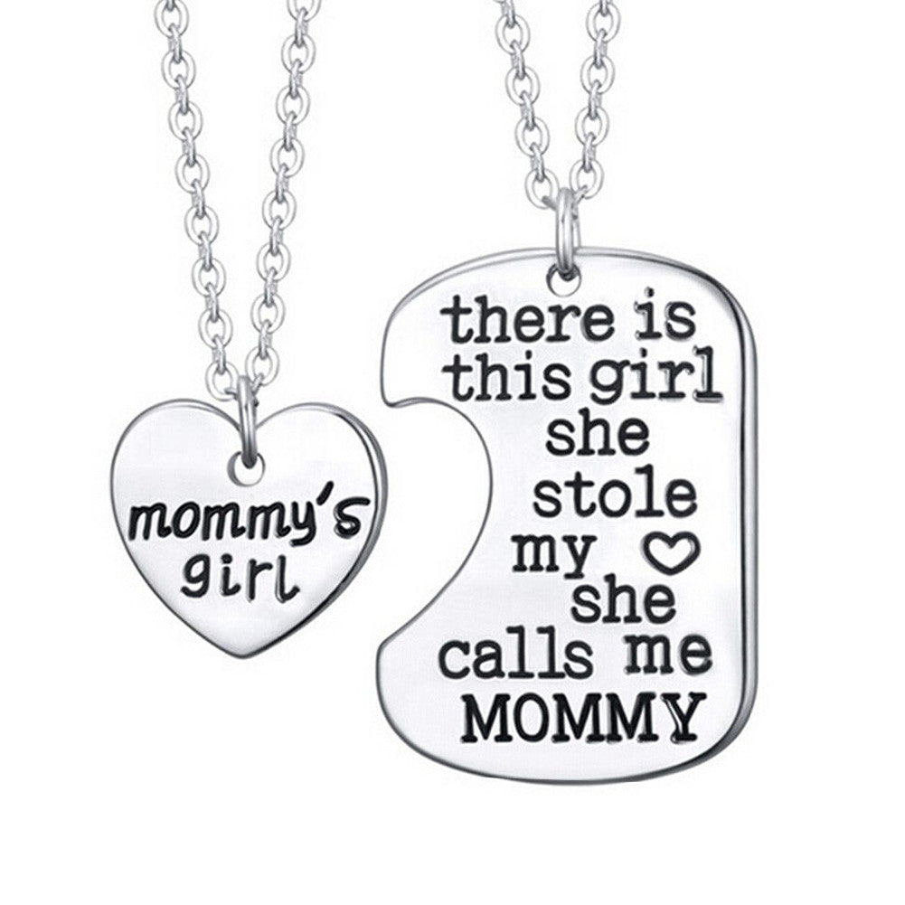 Mommys Girl Set Of 2 Pendant Necklaces