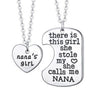 Image of Nana's Girl - Set of 2 Pendant Necklaces - Grandma and Granddaughter Necklace