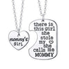 Image of Mommy's Girl - Set of 2 Pendant Necklaces - Mother Daughter Necklace