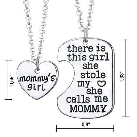 Mommy's Girl - Set of 2 Pendant Necklaces