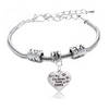 Image of All My Children Have Paws Dog Pendant Bracelet Paw Print Jewelry