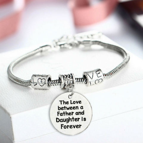 The Love between a Father and Daughter is Forever Pendant Bracelet