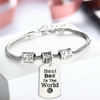 "Image of ""Best Dad in the World"" Charm Bracelet"