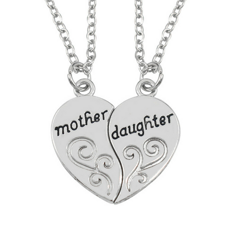 Mother and Daughter Set of 2 Pendant Necklaces