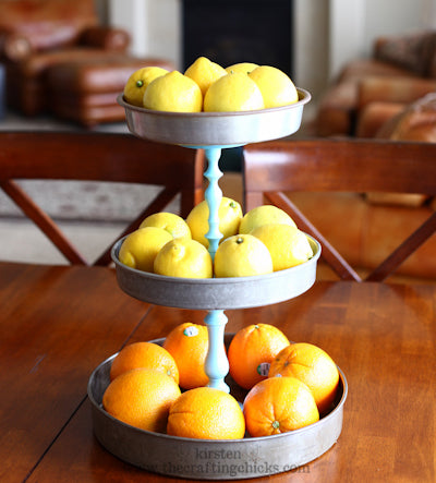 tiered cake stand tutorial from craftingchicks