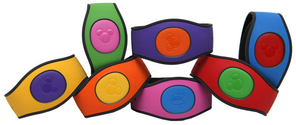Disney's MagicBands with their wrist straps customized
