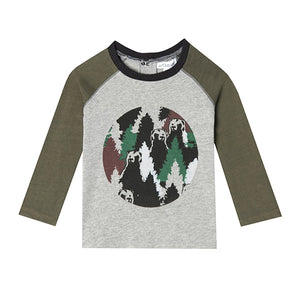 Mini Ethan Raglan T-shirt - Organic Baby Boy Clothes