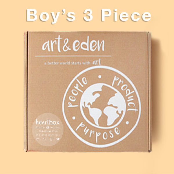 Boy's Spring Heartbox (3 Piece) at Art & Eden