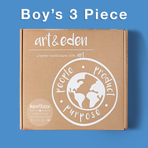 Boy's Cold Weather Heartbox (3 Piece) at Art & Eden