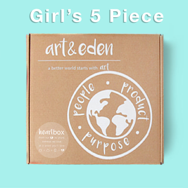 Girl's Spring Heartbox (5 Piece) at Art & Eden