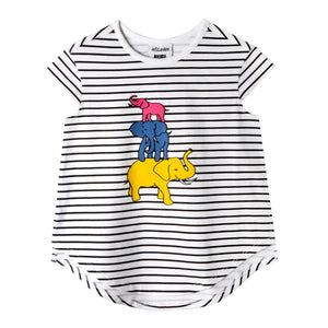 Mini Jungle Tee - animal Planet baby girls